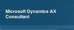 Microsoft Dynamics AX Consultant